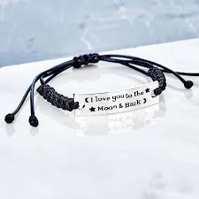 love pendant bracelet images I love you to the moon and back friendship bracelet by junk jewels jpg