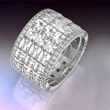 wide wedding bands blaze and pave wide wedding band