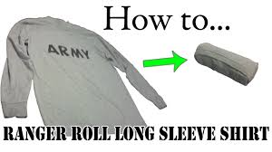 army packing hack how to ranger roll long sleeve shirts basic