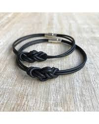 leather bracelet knots images Amazing deal on eternity knot couples leather bracelets his and