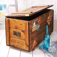 beautiful travel trunks personalised storage trunk vintage travel blanket chest by