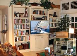 Bookshelf Entertainment Center Bookcase Billy Library To Entertainment Center Tv Unit With