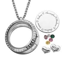 engraved charms engraved floating charms locket for or