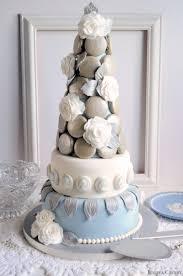 30th birthday wedgwood macaron tower cake juniper cakery