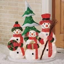 outdoor decor lighted snowman garden ideas design ideas