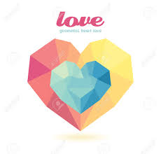 geometric heart modern design graphic or website layout vector