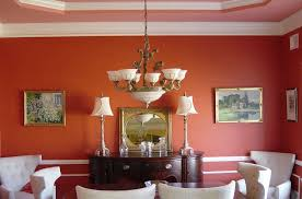 Orange Dining Room Traditional Dining Room With Crown Molding By Amy Wolff Zillow