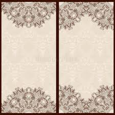 set of templates for banners or vintage greeting card with ornaments