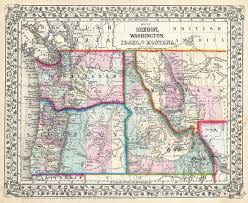 Montana State Map by File 1867 Mitchell Map Of Oregon Washington Idaho And Montana