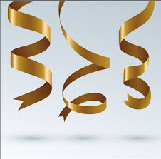 gold ribbons gold ribbon paper vector free vector in encapsulated postscript