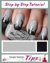 smoky marbled nail art step by step tutorial by www