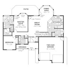 Easy Floor Plans by Functional 2 Bedroom U0027empty Nester U0027 Main Floor House Designs