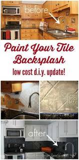 kitchen tile paint ideas painted tile backsplash cover those tiles remodeling
