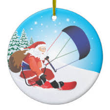 santa snowboarding ornaments keepsake ornaments zazzle