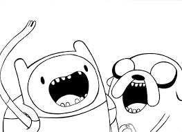 100 ideas adventure finn jake coloring pages print