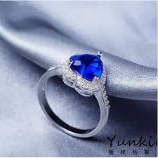 heart style rings images Buy blue heart diamond style platinum ladies ring online in jpg