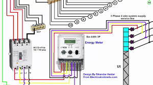 mccb wiring diagram phase installation in house distribution board