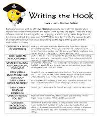 expository writing essay exles of essay hooks hook c lead c