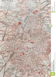 Brussels Map Old Map Of Brussels Royalty Free Stock Photos Image 20369838