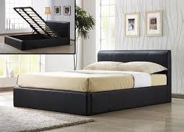 frankfurt ottoman storage faux leather bed frame king l 222 5 w