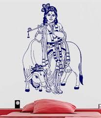 Wwe Wall Stickers Ddreamz Krishna With Cow Design Vinyl Wall Stickers Buy Ddreamz