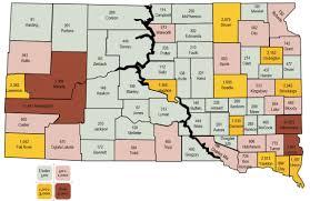 South Dakota County Map Population U2013 Dakota Free Press