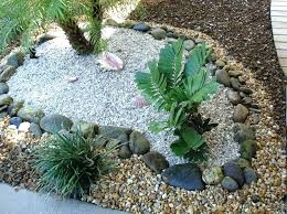 Colored Rocks For Garden Landscape Using Stones Colored Rocks For Landscaping Garden Ideas