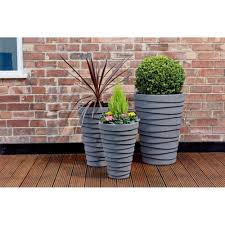 buy large plastic 58cm large garden planter ideal for the patio