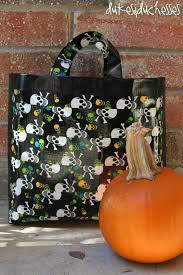 pumpkin trick or treat bag halloween decorations and i