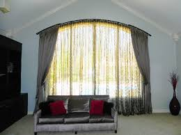 Flexible Curtain Rods For Bay Windows Flexible Curtain Rod For Arched Window Arch Window Curtains To