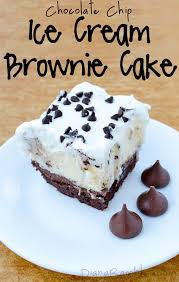 brownie chocolate chip ice cream cake recipe tutorial
