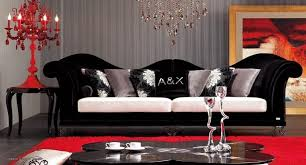 Red Living Room Chair by Cool Designs With Black And White Living Room For Dream Home