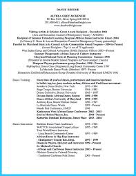 Dancer Resume Examples by Dance Instructor Resume Resume For Your Job Application