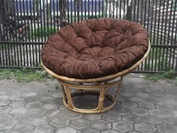 Papasan Chair Cushion Outdoor Furniture Charming Rattan Outdoor Papasan Chair With Brown