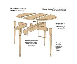 Chic Drop Leaf Table Plans Swing Leg Table Woodsmith Plans