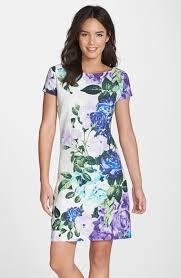 eliza j dresses eliza j floral jacquard cotton shift dress where to buy how to