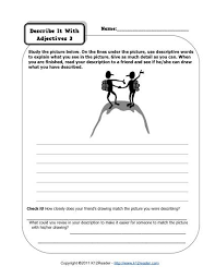 describe it with adjectives 3 2nd grade adjective worksheets