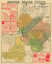 Maps Dallas by Vintage Map Antique Map Of Dallas Old Map Of Dallas Archival