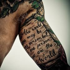arm with quotes