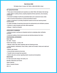 Sample Resume For Teller by Learning To Write From A Concise Bank Teller Resume Sample