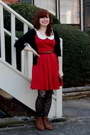 red lace dress black tights naf dresses