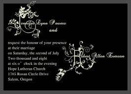 black wedding invitations black wedding card tolg jcmanagement co