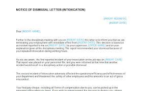 dismissal letter intoxication template bizorb