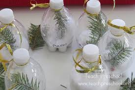 winter in a bottle a kid made ornament teach preschool