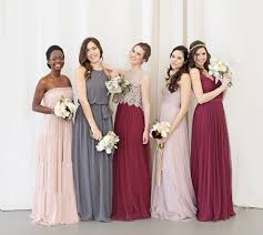 bridesmaid gowns unique mix and match bridesmaid dresses bhldn