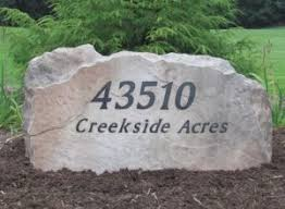 Engraved Garden Rocks Mn Custom Address Signs Engraved Yard Stones
