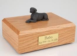 dog cremation weimaraner dog cremation figurine urn w wooden storage box