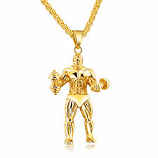 man charm necklace images Top strong man stainless steel necklaces pendants personalized jpg