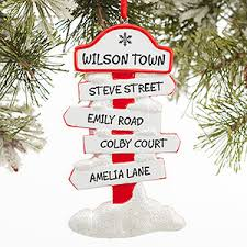 personalized ornaments pole family sign