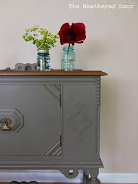 Antique Painted Sideboard Small Antique Buffet The Weathered Door